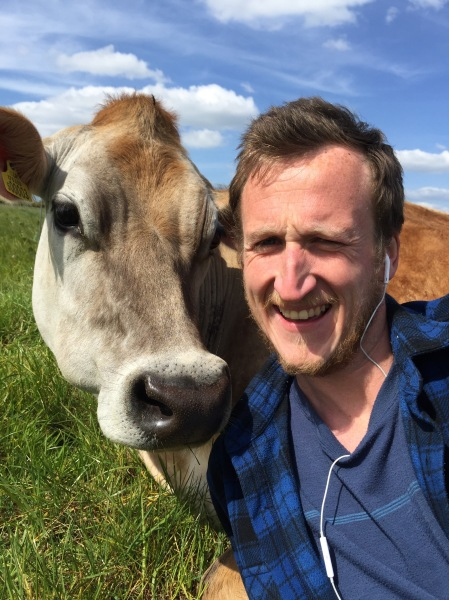 Alex Heffron and cow